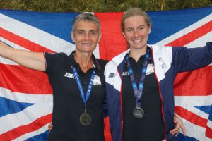 K2216106 Tri Stars. Charlie Pinkney and daughter Hannah both represented Great Britain at the European Triathlon Championships, Hannah claiming a silver medal.